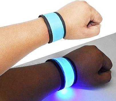 6x Reflective Safety Slap Arm Band Wrist Leg Ankle Belt Wristband Night Running