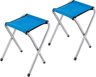 YongTong 2-Pack Folding Camping Stool, Lightweight and Portable Sturdy Camping Chair for Outdoor Picnic Fishing Hiking and Backpacking, Compact Traveling Little Stool ( 11.8