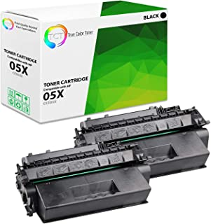TCT Premium Compatible Toner Cartridge Replacement for HP 05X CE505X Black High Yield Works with HP Laserjet P2030 P2035 P2035N P2050 P2055D P2055DN P2055X Printers (6,500 Pages) - 2 Pack