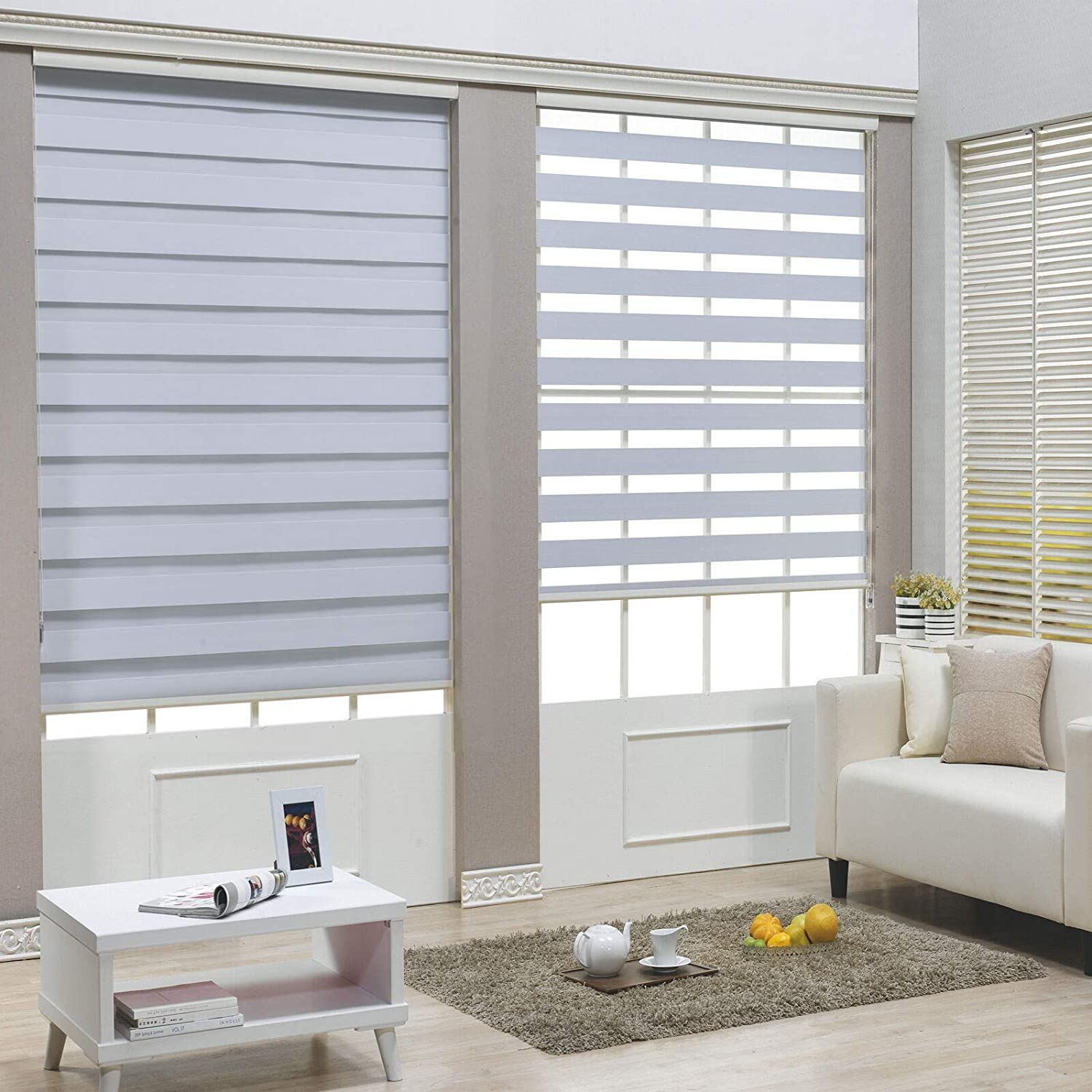 """XKMT- Zebra 2021 spring and summer new Dual Horizontal Online limited product Window Blinds W Shades Roller 67"""""""