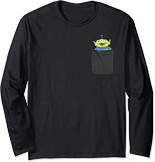 Pixar Toy Story Alien Faux Pocket Long Sleeve Tee