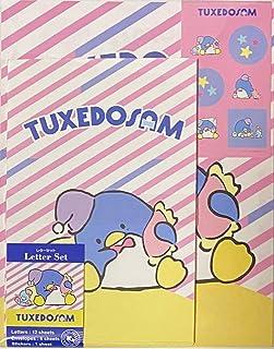 مجموعة حروف Sanrio Tuxedosam 12 ورقة كتابة + 6 مظاريف + 7 ملصقات قرطاسية يابانية (ليلة سعيدة)