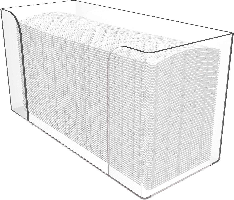 Cq acrylic Popular overseas Countertop Paper Daily bargain sale H Folded Towel Dispenser
