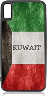 Flag Kuwait - Kuwaiti Grunge Flag Design Black Rubber Case for iPhone Xs Max - iPhone Xs Max Accessories