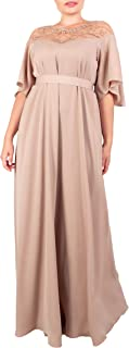 Sponsored Ad - Possefieri Women's Dress A or X-line. Long Dress Evening Prom Wedding. Decorate with Beads. Removable Belt