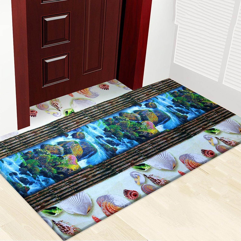 3D color printing plant flower mat mat,Carpet non-slip foot mat Indoor mat [hall] Home door Door mats-G 80x120cm(31x47inch)