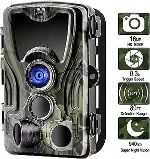 AI LIFE Cámara Trail Mejorada 16MP 1080P Wildlife Game CAM con visión Nocturna por Infrarrojos 24M activada por Movimiento 3 sensores PIR 36pcs Leds IR 2.0LCD a Prueba de Agua