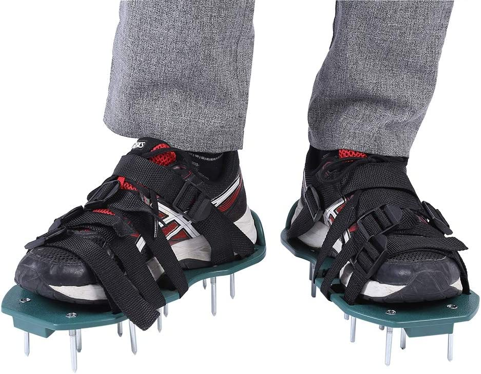 A sixx Lawn Aerator Sandals Deluxe Max 51% OFF Pair of Soil 1