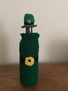 Handmade Crochet Leprechaun Wine Bottle Cover- St Patricks Day