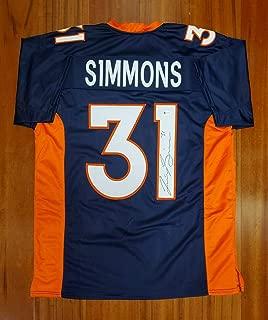 Justin Simmons Signed Jersey - Beckett - Beckett Authentication - Autographed NFL Jerseys