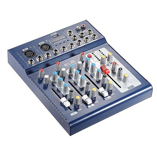ammoon® F4-USB 3 Canales Digital Audio Mic Line Mezclador de Mezcla Consola con 48 V de Alimentación Phantom para la Grabación de DJ Etapa Karaoke Apreciación Musical