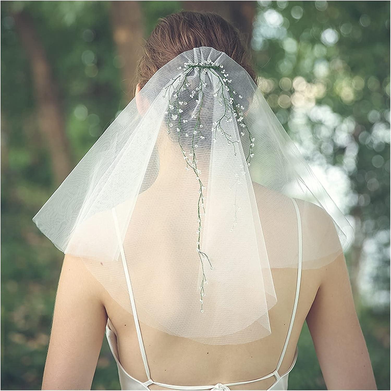 NEW xunyang Ins Handmade Crystal Bridal Veil Short quality assurance White Women Tulle