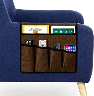 Guken Armrest Storage Organizer Over The Arm Caddy Sofa Couch Armchair Pouch Organizer..