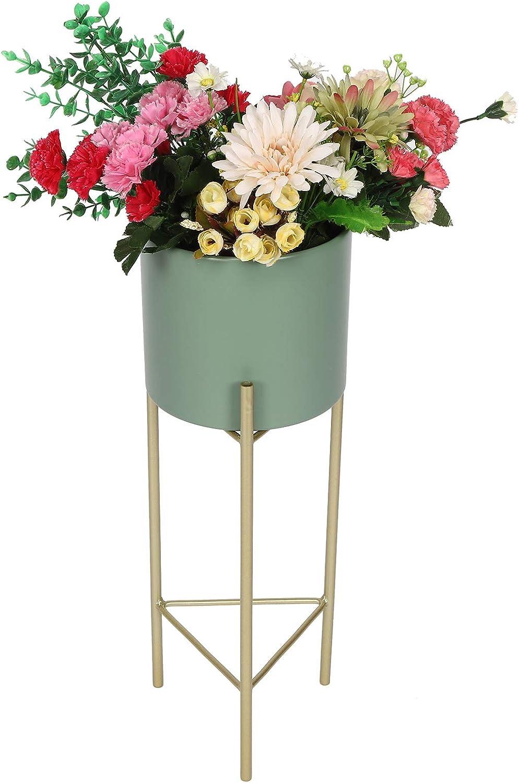 GOTOTOP Outdoor Indoor Finally Regular store popular brand Iron Plant Pots Flo Nursery Stand Holder