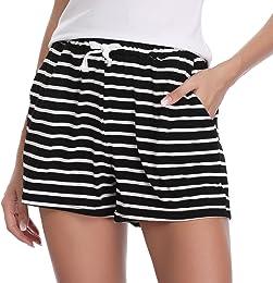 Femme été Shorts et Bermudas Pantalon Fluide Casua
