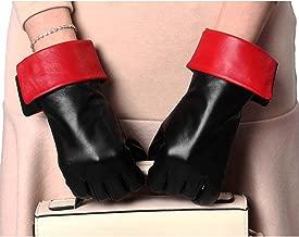 YISEVEN Women's Winter Genuine Sheepskin Touchscreen Leather Gloves Wool Lined