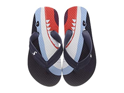 Joules Kids Flip-Flop (Toddler/Little Kid/Big Kid) (Navy Sharks) Boys Shoes