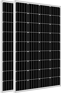ECO-WORTHY 100W 0.4KWH/Day 12V Off Grid Solar Power System Kit Cpmplete with Battery: 100W Solar Panel+20A LCD Charge Cont...