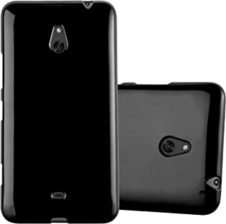 Cadorabo Case Works with Nokia Lumia 1320 in Jelly Black – Shockproof and Scratch Resistant TPU Silicone Cover – Ultra Slim Protective Gel Shell Bumper Back Skin