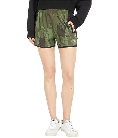 RVCA Yogger Perf Shorts (Green Camo II) Women