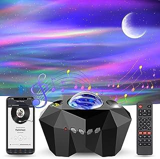 TEPILOS LED Sternenhimmel Projektor, Aurora Projektor mit Fernbedienung/Bluetooth 5.0/55 Lichteffekte/4 Helligkeitsstufen/...