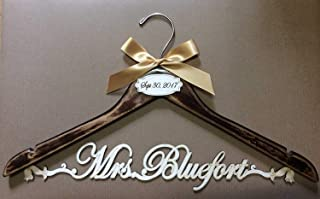 Wedding hanger vintage hanger, bride hanger, Personalized Hanger, Custom hanger, wedding gown hanger, wedding dress hanger