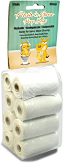 PetBro Flush `n Gone Poop Bag - 8 Rolls (80 Bags) - Biodegradable, Compostable, Flushable Poop Bags for Better Environment
