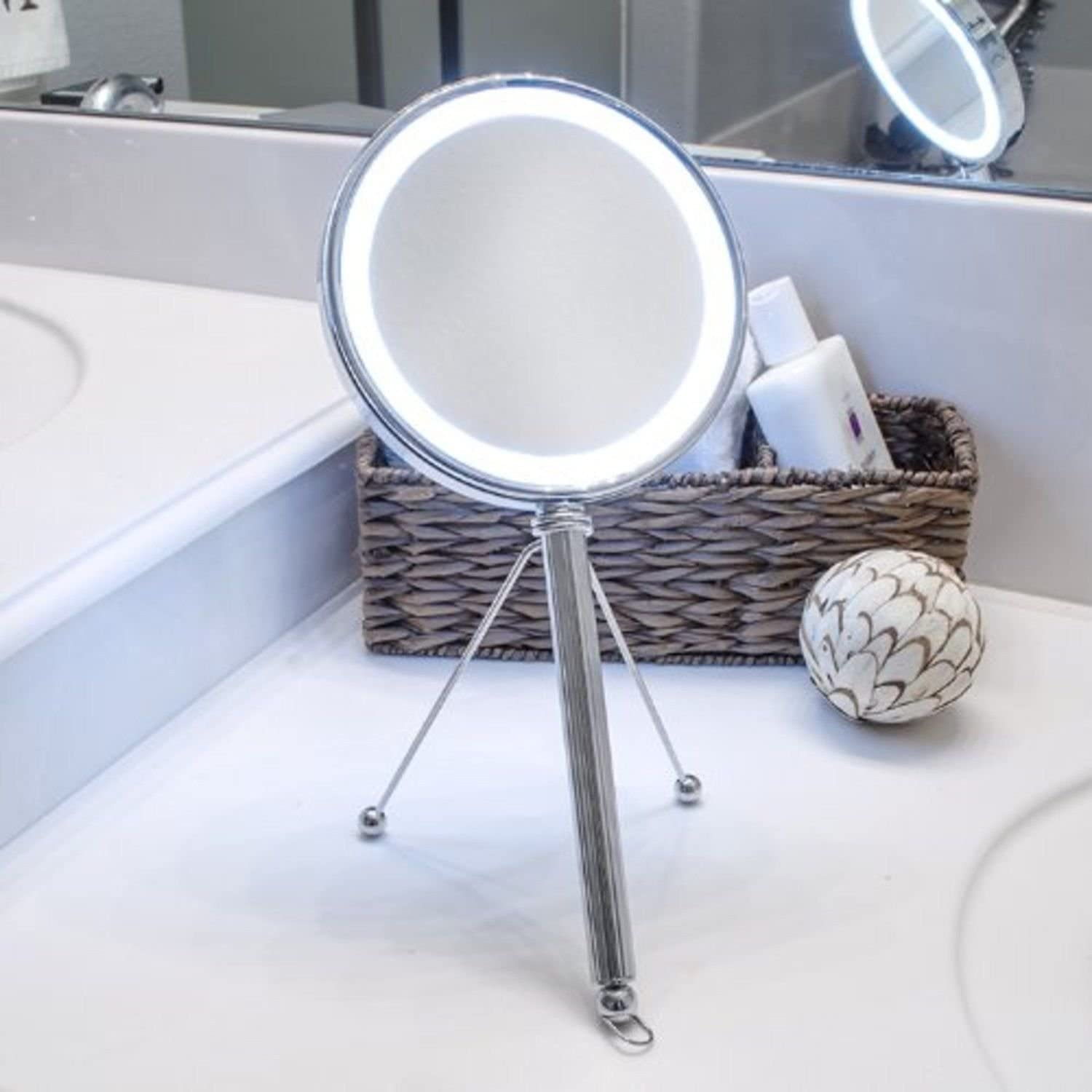 Makeup Mirror,LED Lighted, Vanity Mirror, Hanging Mirror, and Hand Mirror
