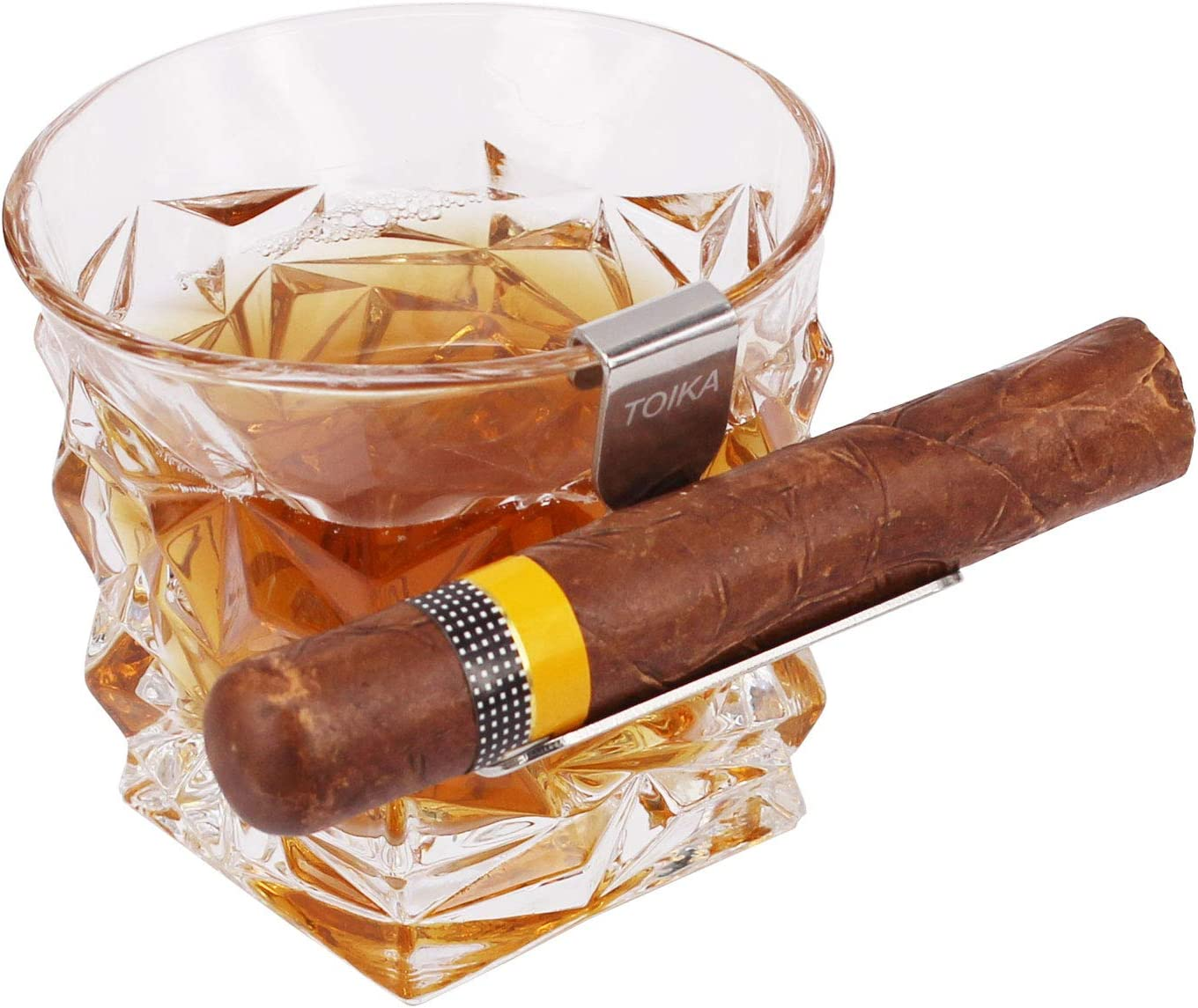 TOIKA Stainless Steel Cigar Holder for Super special price Genuine Free Shipping Whiskey Glass,Perfec