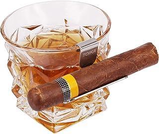 TOIKA Whiskey Stainless Steel Cigar Glass Holder