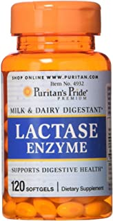 Puritans Pride Lactase Enzyme 125 Mg, 120 Count