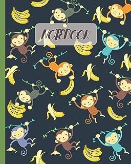 Notebook: Hanging Monkeys Cartoon & Bananas - Lined Notebook, Diary, Track, Log & Journal - Cute Gift Idea for Boys, Girls, Teens, Men, Women (8