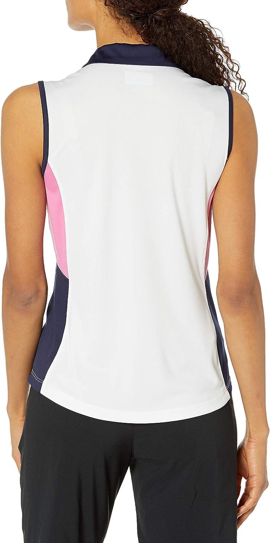 PGA TOUR Womens Sleeveless Colorblock Polo Shirt