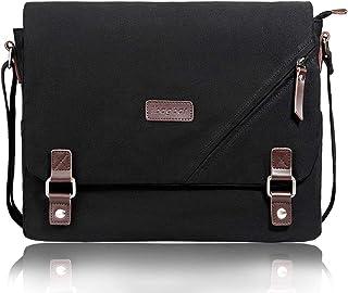 ibagbar Upgraded Canvas Messenger Bags 14 Inch Shoulder Crossbody Bag Laptop Computer..