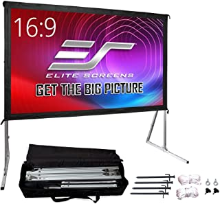 Elite Screens Yard Master 2, 120-inch Outdoor Indoor Projector Screen with Stand 16:9, Fast Easy Snap On Set-up Freestandi...