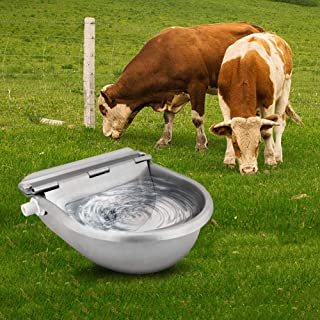 Ridgeyard Outdoor Farming Automatic Stock Pet Waterer Water Trough Stainless Steel Horse Cattle Goat Sheep Dog Auto Fill Water Bowl
