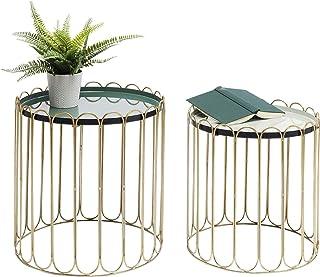 Kare Design Beistelltisch Cha Cha Cha (2/Set), Beistelltisch gold, Beistelltisch rund, (H/B/T) 48x46,5x46,5cm