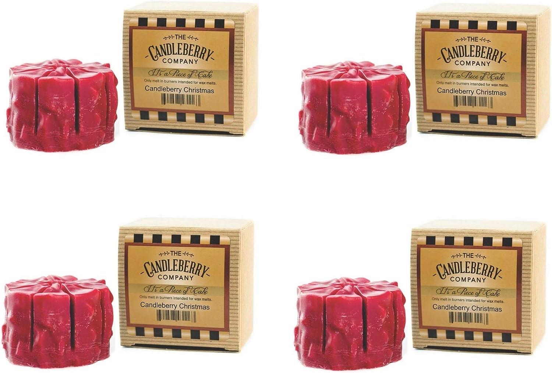 Candleberry Christmas 送料無料 激安 お買い得 キ゛フト Simmering Cake Tart Fra Melts 4-Pack Wax 初回限定