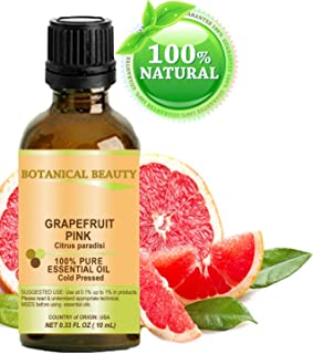 GRAPEFRUIT PINK Essential Oil. 100% Pure Therapeutic Grade, Premium Quality, Undiluted. 0.33 Fl.oz.- 10 ml. by Botanical Beauty.