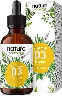Vitamin D3-Droppar - 5000 I.E. per 5 Droppar - 75 ml (2550 Droppar) - Högkoncentrat och Hög Biotillgänglighet - I MCT-Koko...