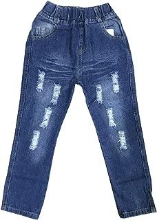 EMAOR Unisex Kids Baby Elastic Waist Ripped Holes Denim Pants Jeans & Shorts 18Months - 8Years