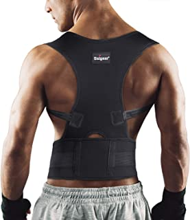 Unigear Back Brace Posture Corrector with Fully Adjustable Straps, Improve Posture and Provide Lumbar Support to Reduce Lower and Upper Back Pains, for Men and Women (Large)