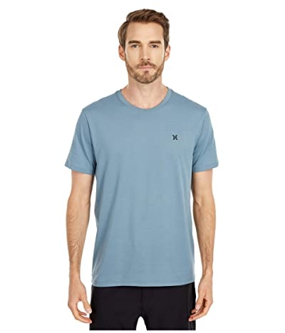 Hurley Dri-Fit Staple Icon Reflective Short Sleeve Tee (Ozone Blue) Men