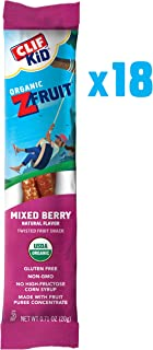 CLIF KID ZFRUIT - Organic Fruit Rope - Mixed Berry Flavor - (0.7 Ounce Rope, Lunch Box Snacks, 18 Count)