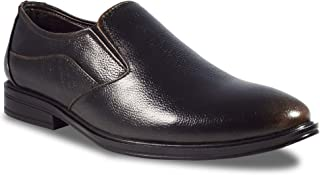 RIGAU Men's Leather Black Formal/Causal Shoes