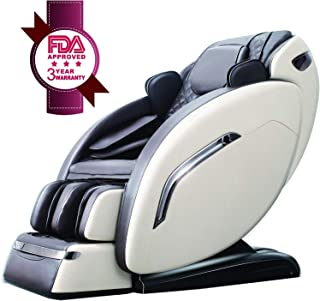 Ootori SL Massage Chair, Zero Gravity Full Body Air Massage Chair Recliner, Roller Massage From Neck To Hip, Yoga Stretching Function, With Bluetooth Audio Playback Can Be Heated(White)