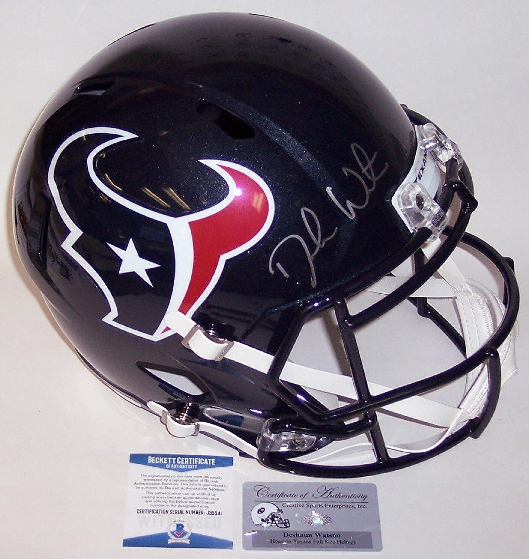 DeShaun Watson Autographed Hand Houston Texans Speed Full Size Helmet  BAS