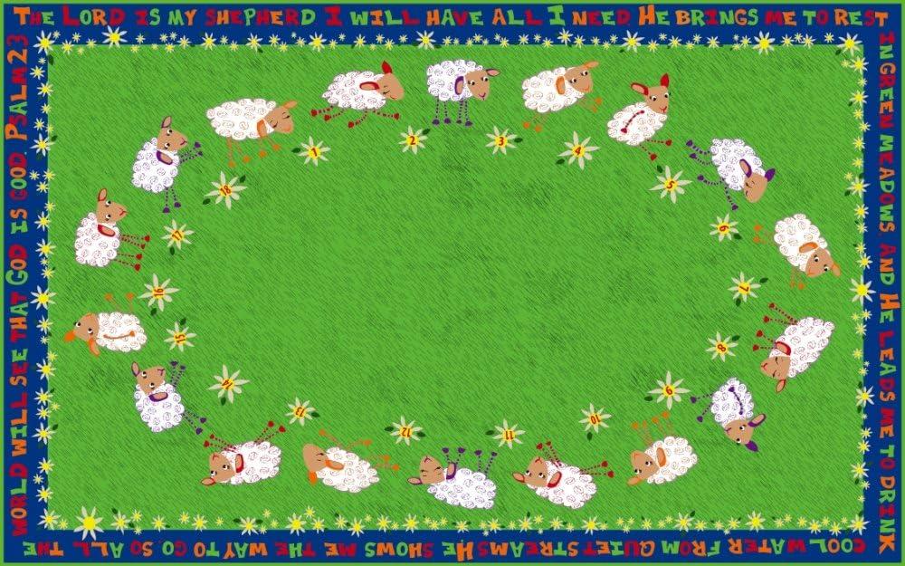 In a popularity Kid Carpet Little Lambs Of God Nylon 8'6