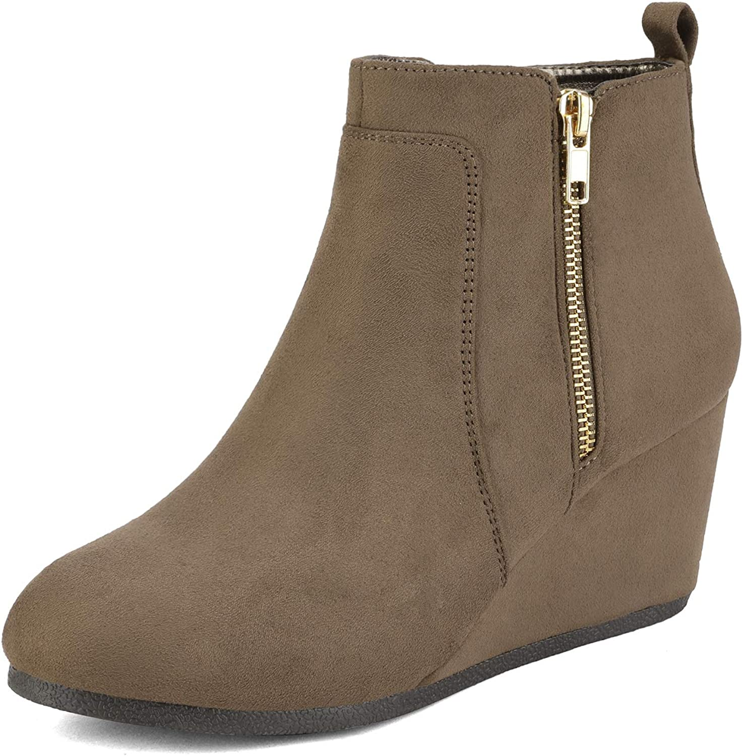 DREAM PAIRS Women's Suede Low Ankle Max 74% OFF Wedges Challenge the lowest price of Japan ☆ Boots
