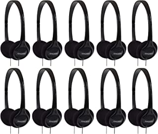 Koss KPH7 Lightweight Portable Headphone, Black - 10 PK